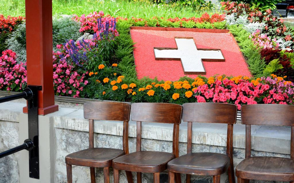 10 Blumenschmuck bei der Talstation