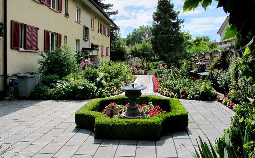 Garteneingang bei Albertina